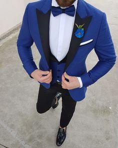 Men Suit Slim Fit 3 Pieces Tuxedo Groom Groomsman Custom men suits for wedding ternos para hombre kingsman blue suit black pant Slim Fit Tuxedo, Slim Fit Suits, Tuxedo Suit, Tuxedo For Men, Blue Suit Wedding, Tuxedo Wedding, Wedding Suits, Wedding Men, Best Blue Suits For Men