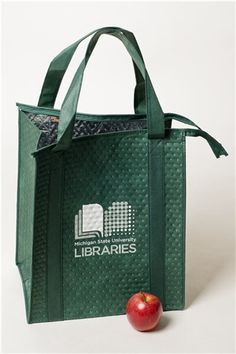 MSU Libraries Green Insulated Bag