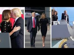 First lady Melania Trump has proudly signed off from her first foreign trip as first lady before walking to Air Force One hand-in-hand with the President Don...