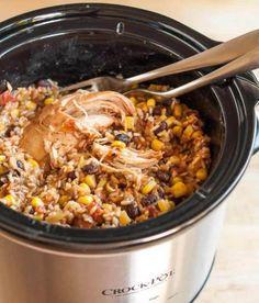 Recipe: Slow-Cooker Chicken Tikka Masala — Weeknight Dinner Recipes from The Kitchn Chicken Burrito Bowl, Chicken Burritos, Burrito Bowls, Slow Cooker Tikka Masala, Large Slow Cooker, Curry Dishes, Chicken Tikka Masala, Slow Cooker Chicken, Slow Cooker Recipes