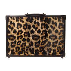 Leopard Print Carry Case Make-up Set