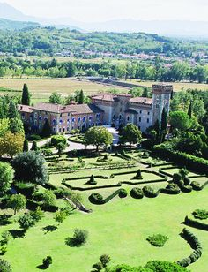 Castello Di Spessa in Friuli Venezia Giulia, Italy - Friuli wine country castle. Its origins date back to the 13th century, but several records hint to the passage of the Romans since as back as the 3rd century A.D.