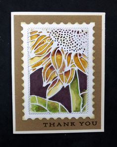 *CC648 Sunflower Thank You by hobbydujour - Cards and Paper Crafts at Splitcoaststampers