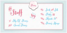 Peoni font .... so cute!! perfect for a summer invitation