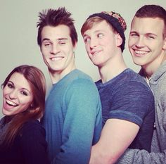 these 4 <3 Amy Marie gaertner, Marcus johns, Logan Paul, Jerome jarre