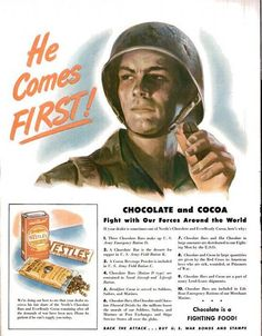 Beginning with the Aztec warriors, chocolate and cocoa has been included in military rations for centuries.