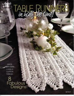 Annie's attic 877517 table runners in half the time