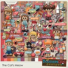 "BoomersGirl Designs: ""The Cat's Meow"" Digital Kit"