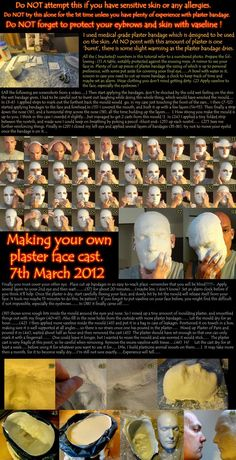 Make your own plaster face cast by melesmeles