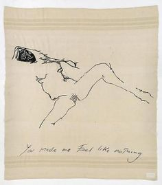 What a girl - open, and unforgivingly honest, at least thats what it seems. Just Like Nothing, 2009 Tracey Emin Embroidered blanket Life Drawing, Painting & Drawing, Figure Drawing, Poesia Visual, Tracey Emin, Concours Photo, Mystique, Feminist Art, Portraits