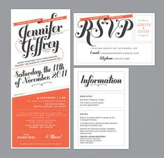 The Jennifer - Modern wedding invitation
