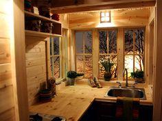 Fencl Plans - House to Go Green Building Plans - dapur mungil dan jendela serta pemandangan yang segar ... my dream abis