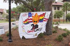 Homecoming 2013 LASA Sheet Sign. Homecoming Week, Community, Signs, Life, Shop Signs, Sign, Dishes