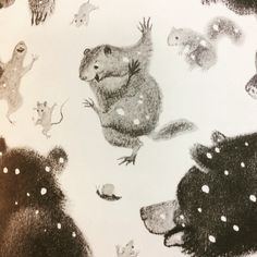 Book Discussion With Myself: The Happy Day by Ruth Krauss; illustrated by Marc Simont (1949) Love Rain, Children's Book Illustration, Animal Party, Happy Day, Childrens Books, Moose Art, I Am Awesome, Witch, Animation