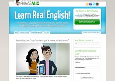 Knowing and using these English learning websites is the biggest thing you can do to improve your English. Explore BEST websites to learn English on the net Learn Real English, Improve Your English, Learning Websites, Cool Websites, Free English Lessons, Make Money Writing, English Language Learners, Free Chat, Teaching English