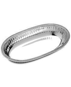Wilton Armetale Aluminum-Alloy Flutes & Pearls Pasta Bowl