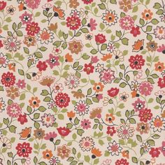 Vintage Floral Wallpaper Red Purple Green | 1950s Vintage Antique Wallpaper