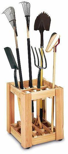 organizer zahradního nářadí, jak vyrobit na nářadí, jak uložit nářadí