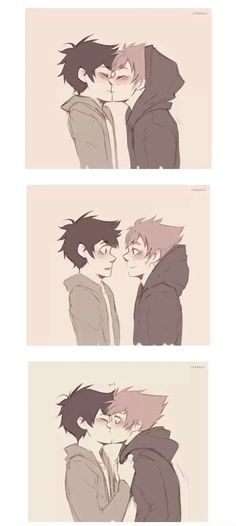 Kiss the boii by ikimaru-art // Homestuck ships Gay Comics, Cute Comics, Cute Gay Couples, Anime Couples, Gay Mignon, Gay Lindo, Kissing Drawing, Comic Anime, Anime Kiss