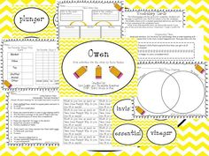 Owen~ Book Activities for the book by Kevin Henkes ***** TGIF- Third Grade Is Fun*****: Working On Vocabulary