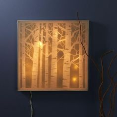 Craft Warehouse Blog - Nightlight with Crafter's Workshop Stencils http://shopcraftwarehouse.blogspot.com/2013/04/forest-canvas-night-light.html