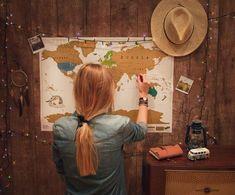 Mapa zdrapka, prezent dla podróżnika https://www.sklep.busemprzezswiat.pl/produkt/zdrapywalna-mapa-swiata/ #travel #prezent #mapa
