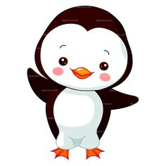 CLIPART BABY PENGUIN | Royalty free vector design
