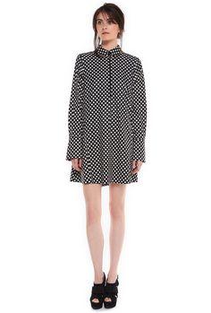 A-line polkadot dress