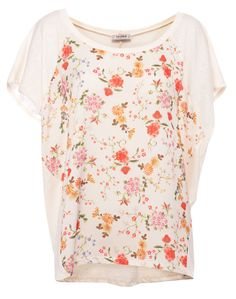 FLORAL PRINT TOP - T-SHIRTS AND TOPS - WOMAN