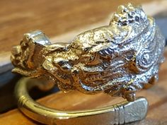 Fire Breathing Dragon Silver Spiral Spoon Ring by LostAndForged
