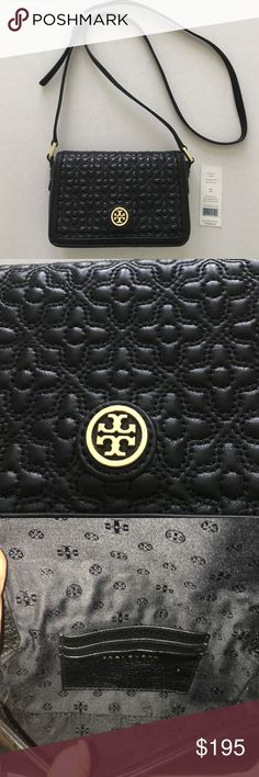 """Tory Burch Bloomingdales Quilted Mini Bag Tory Burch Bloomingdales Quilted Leather Mini Bag Used once.  Dimensions 7"""" H x 5"""" W x 2"""" D. Handle drop 23"""". Used once and in very good condition. Clean inside and out. Imperfection in hardware: inside hardware has a scratch, see picture, but not noticeable when wearing it due to being on the inside. Leather in perfect condition. Dust bag not included. Tory Burch Bags Mini Bags"""