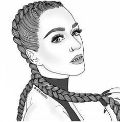 Katy perry girls ( black & white ) in 2019 рисование девушек Tumblr Girl Drawing, Tumblr Sketches, Girl Drawing Sketches, Girly Drawings, Tumblr Art, Outline Drawings, Girl Sketch, Tumblr Girls, Black Girl Art
