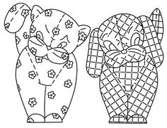 Kitschy pets templates for embroidery, felt, applique,etc.