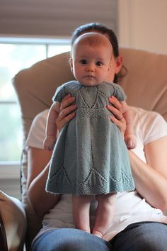 Love this little knit dress! Now I just need a friend to have a baby girl for me to make this for! :) BTW...how sweet & cute is this little baby?