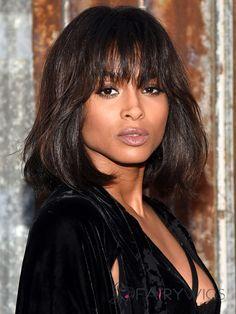 Ingenious Medium African American Celebrity Hairstyle 100% Human Hair