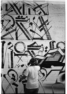 These are images of art pieces and murals by LA-based street artist RETNA. I particularly love his work because it fuses two forms of graphic art I love - calligraphy and graffiti. He creates art t. Gothic Lettering, Graffiti Lettering, Graffiti Wall, Street Art Graffiti, Graphic Design Typography, Graphic Art, Letter Art, Letters, Calligraphy Art