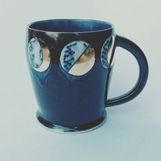 MADE TO ORDER Moon Phases Porcelain Mug by SilverLiningCeramics