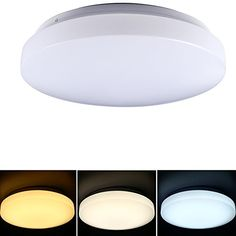 Bright Color Switchable 146inch 18W LED Ceiling Mount Lights 1320LM 120W Incandescent Bulb Equivalent 160 Degree Beam Angle Ceiling Lighting for Living Room Bedroom Dining Room -- Visit the image link more details.