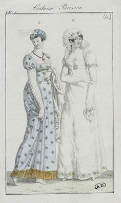 Journal des dames et des modes / Costume Parisien: 15 Mars, 1808