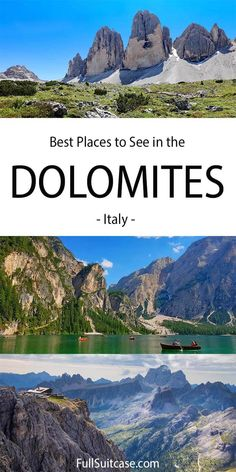 16 Best Places to Visit in the Dolomites, Italy (+ Map, Photos & Info) Italy Map, Italy Travel, Europe Travel Guide, Travel Destinations, Travel Tips, Visit Italy, Northern Italy, European Travel, Cool Places To Visit