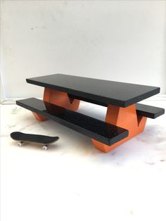 This looks like a really good and well made picnic table Finger Skateboard, Skateboard Ramps, Mini Skate, Tech Deck, Asdf, Skate Park, Picnic Table, Skating, Miniatures