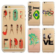 Olympic Games Painted Patterned Skin TPU Soft Case Cover For iPhone 6/6s Plus 5.5Inch: A