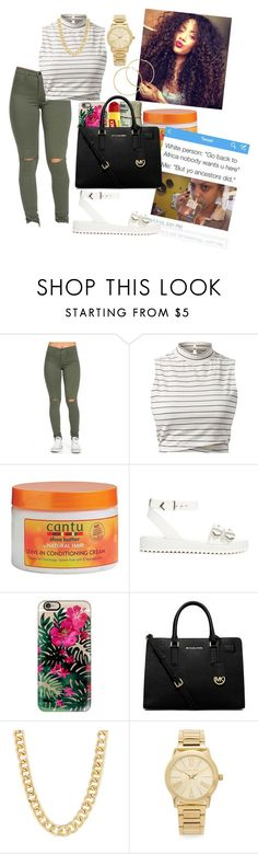 """""""Hm """" by seanarice ❤ liked on Polyvore featuring Shellys, Casetify, Carmex, MICHAEL Michael Kors, Michael Kors and Melissa Odabash"""
