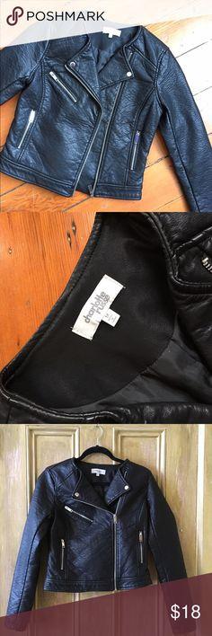 💕 Black Leather Jacket 💕 💕 Charlotte Russe Medium Black Leather Jacket💕 Never Worn❕❕❕ NWOT Charlotte Russe Jackets & Coats