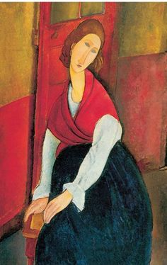 Amedeo Modigliani, Jeanne Hebuterne a Door in the Background Fine Art Reproduction Oil Painting Modigliani Paintings, Amedeo Modigliani, Italian Painters, Italian Artist, Paul Gauguin, Oil Painting Reproductions, Oeuvre D'art, Art And Architecture, Painting & Drawing