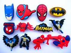 12 Spider-Man and Batman Croc charms for $5 at Amazon!