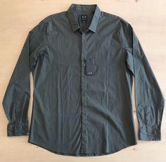 Armani Exchange Men's Long Sleeve Shirt NWT  | eBay Denim Button Up, Button Up Shirts, Long Sleeve Shirts, Cotton, Ebay, Black, Tops, Style, Fashion