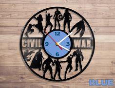 Clocks – Civil War vinyl record wall clock – a unique product by DenisVin on DaWanda