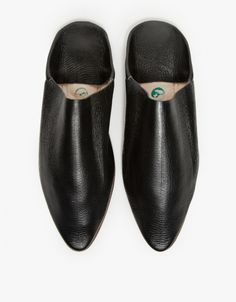 Babouche Slides in Black