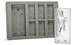 Han Solo in Carbonite ice cube tray... Thanks to Mark for this find.